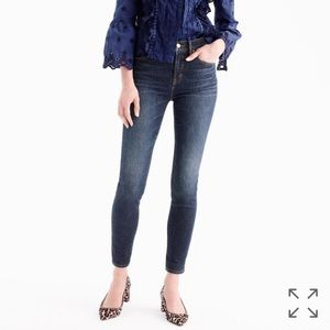 """J. Crew 9"""" high-rise toothpick ankle jean"""